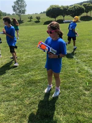Nerf Battle at Camp Compete Day