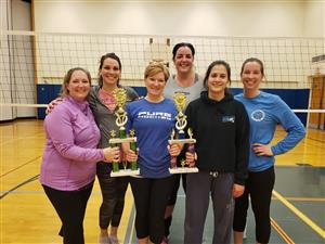 2018-19 Volleyball Women's League and Playoff Champsions - EZ Pass