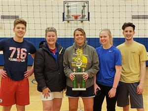 2018-19 Volleyball CoEd League Champions - Oldies & Goodies
